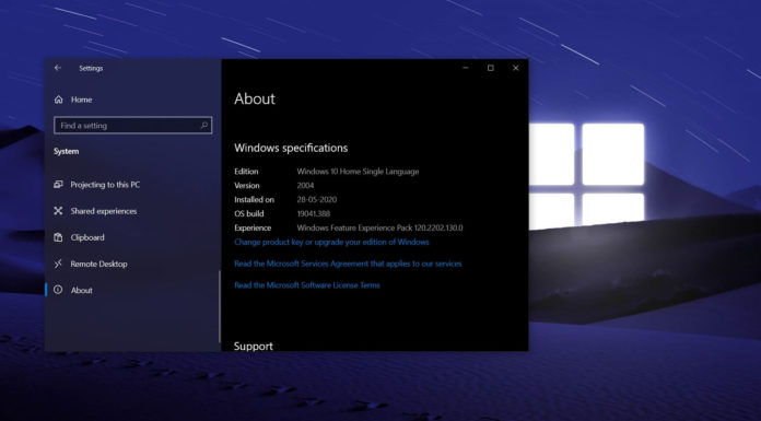 Windows 10 version 20H2 update