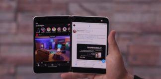 Surface Duo dual screen UI
