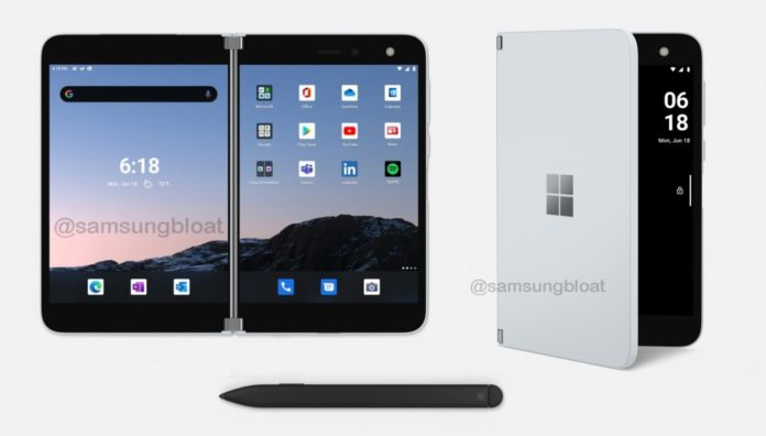 Surface Duo with pen