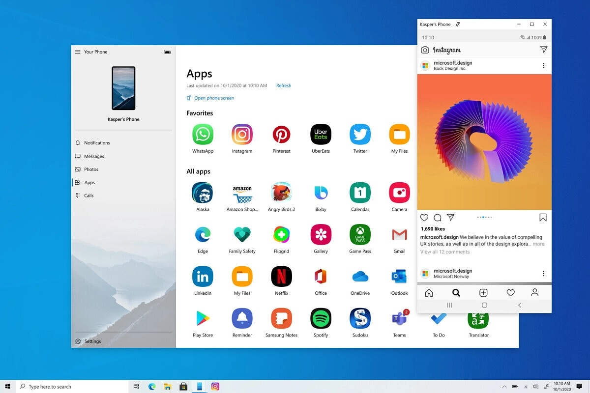 Windows 10 Android apps streaming