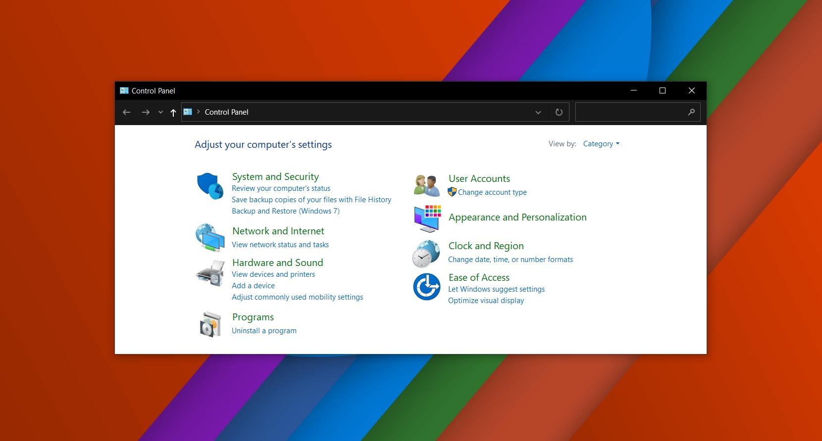 The Windows 10 Control Panel modernization continues