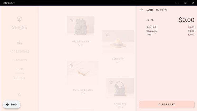 Flutter Shopping app