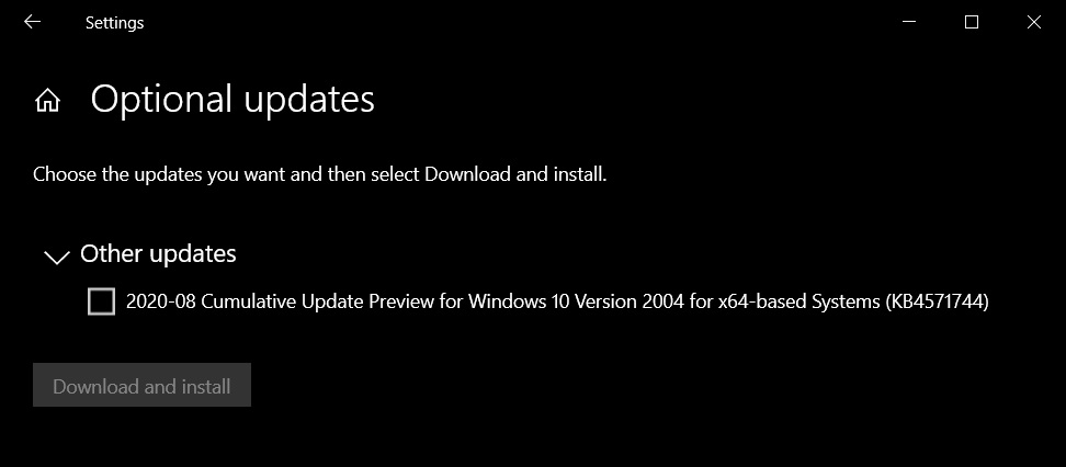 Windows 10 Build 19041.488