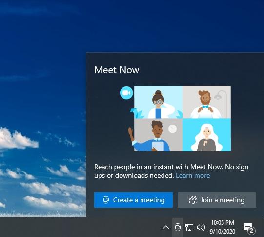 Windows 10 Meet Now