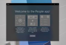 Windows 10 People app