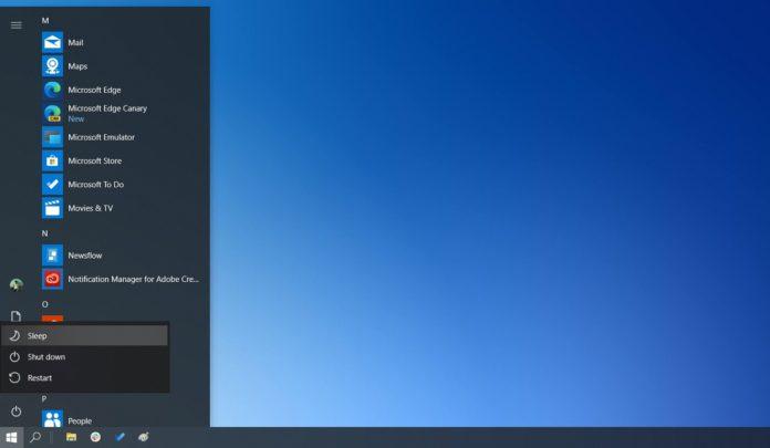 Windows 10 Sleep Mode