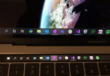 Windows 10 Taskbar on Touch Bar