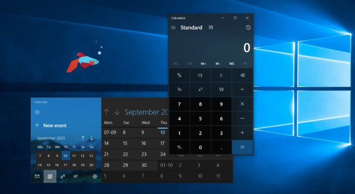Windows 10 apps window