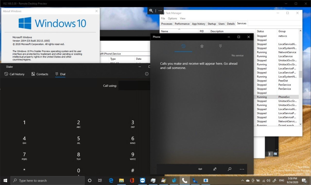 Windows 10 cellular support