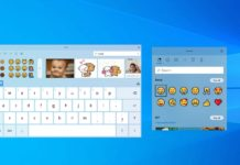 Windows 10 keyboard and emoji