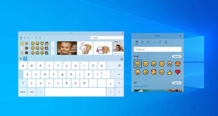 Windows 10 keyboard and emoji