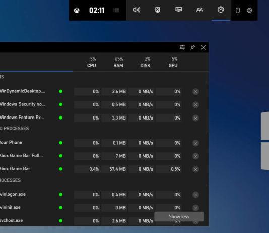Windows 10 modern resources manager