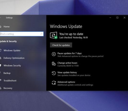 Windows 10 optional updates warning