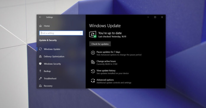Windows 10 optional updates warning