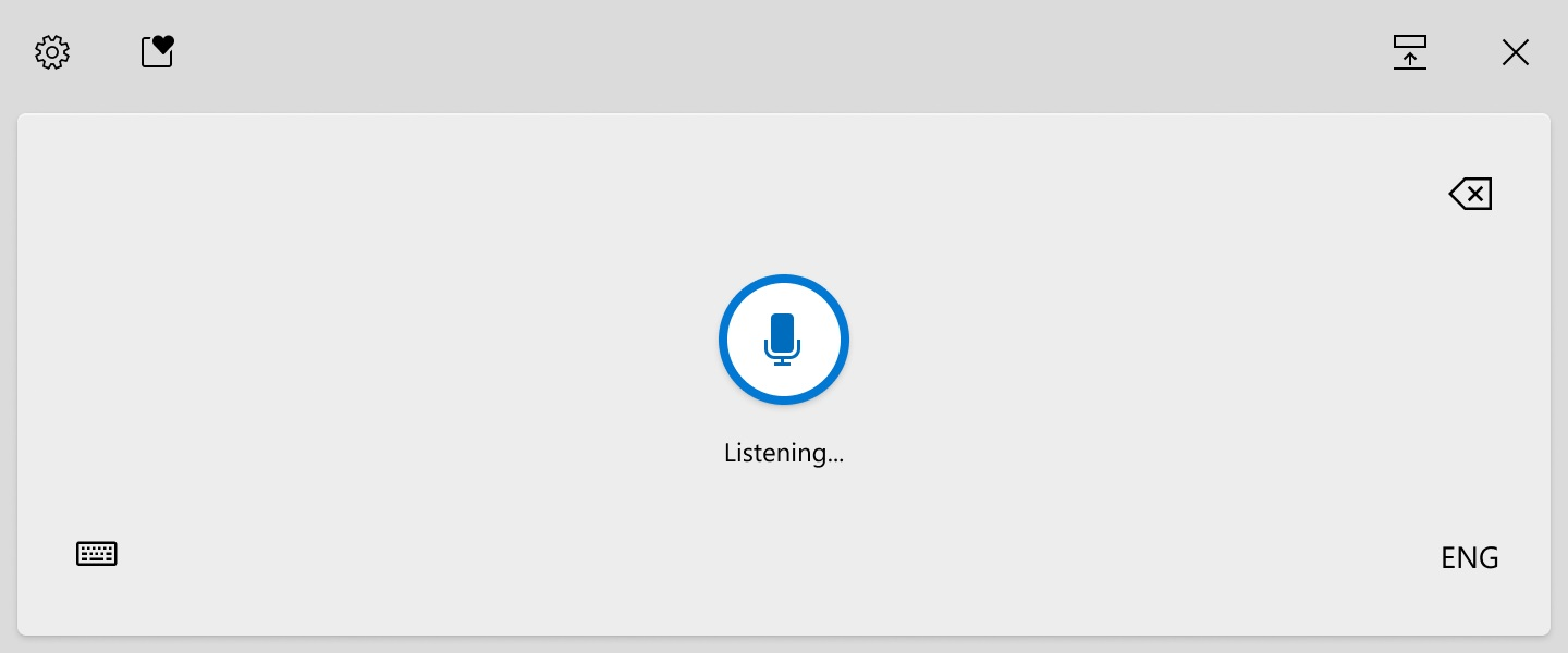 Windows 10 voice typing