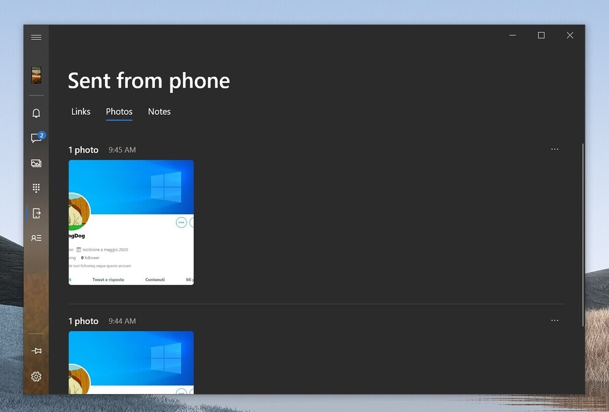 Your Phone app contents sync