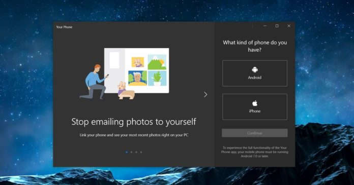 Your Phone app for Windows 10