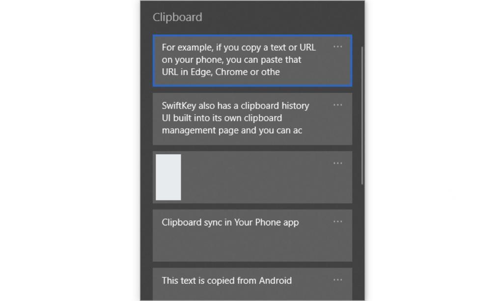 Clipboard history UI