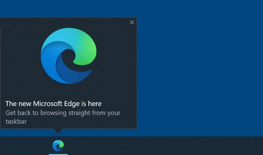 Edge taskbar ad