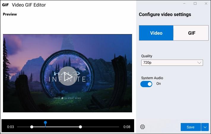 Microsoft GIF recorder app