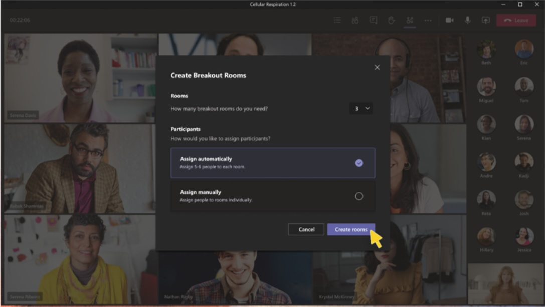 Microsoft Teams Breakout Rooms feature