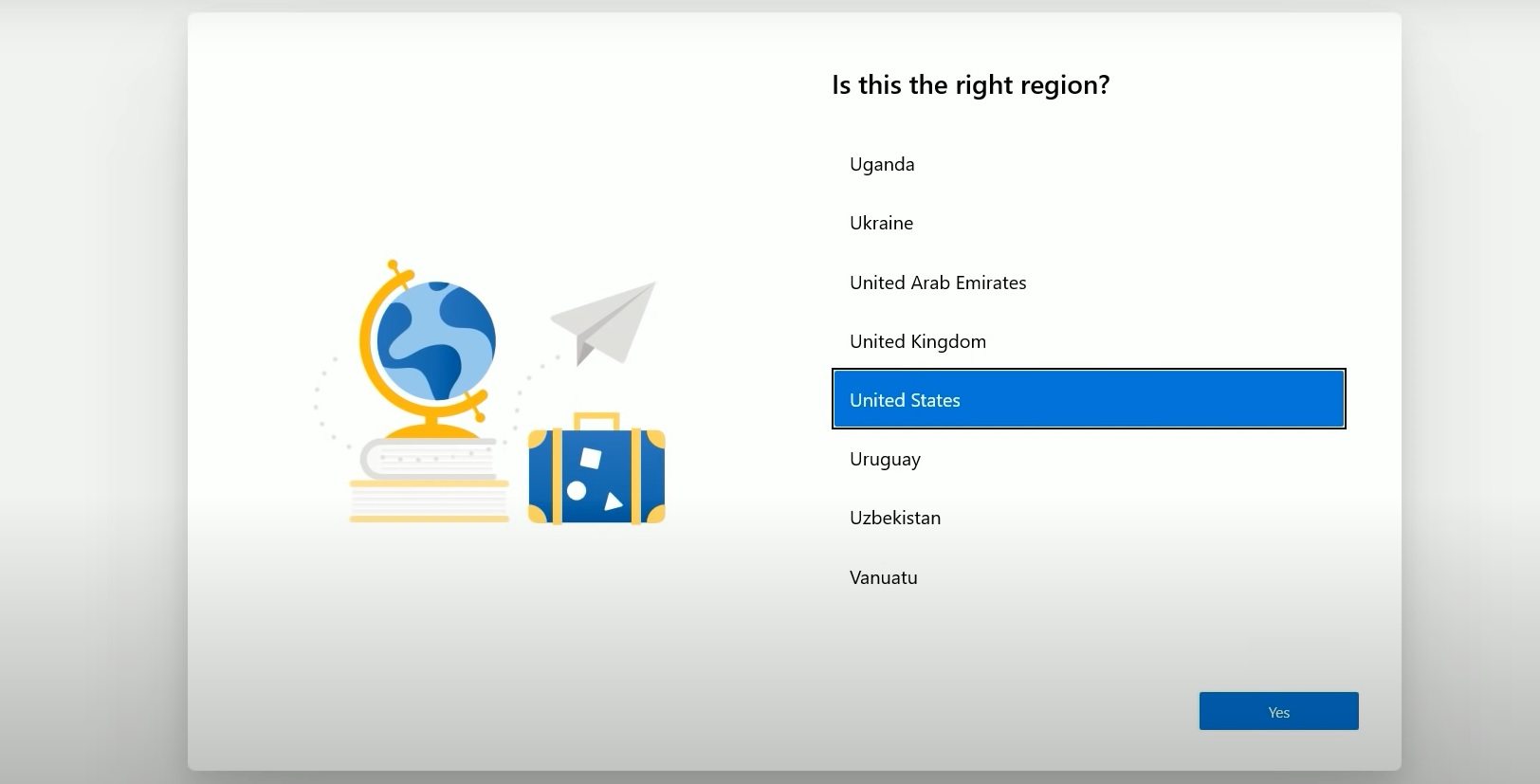 OOBE web UI