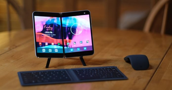 Surface Duo mobile device