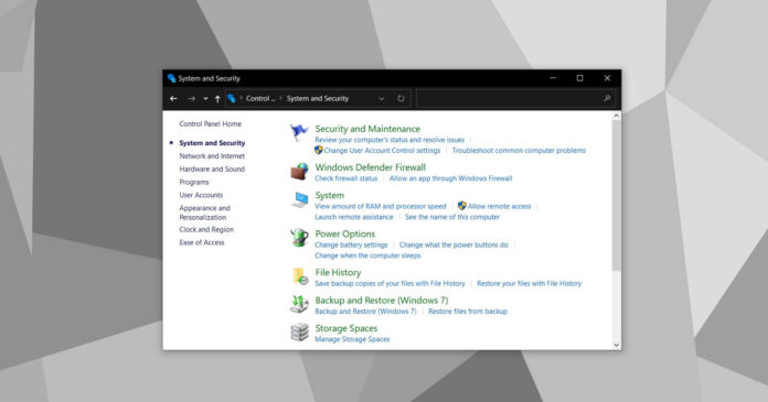 Windows 10 20H2 Control Panel