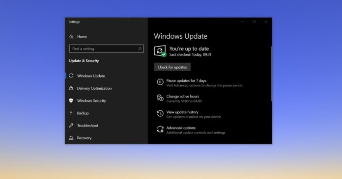 Windows 10 20H2 update