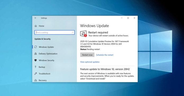 Windows 10 KB4580364