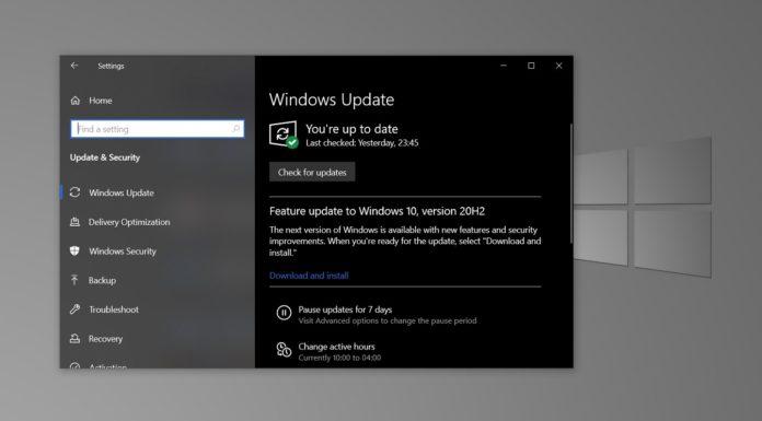 Windows 10 October 2020 Update features
