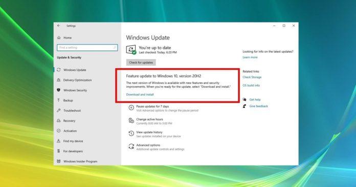 Windows 10 October update release