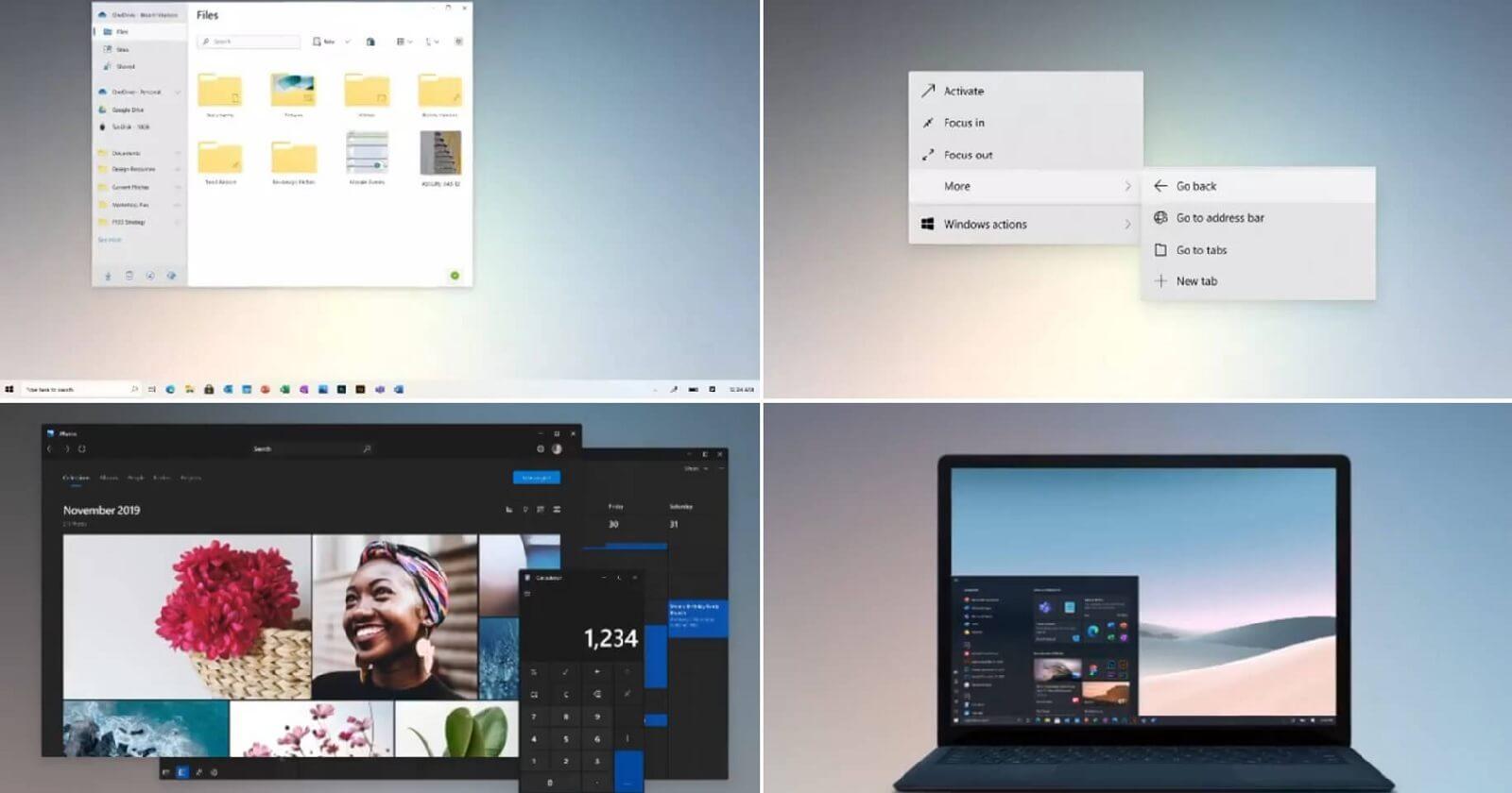 Windows 10 design teaser