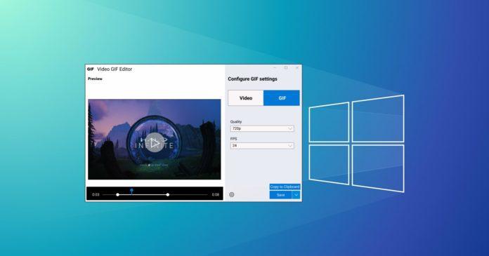 Windows 10 video editing tool