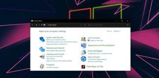 Windows Control Panel update