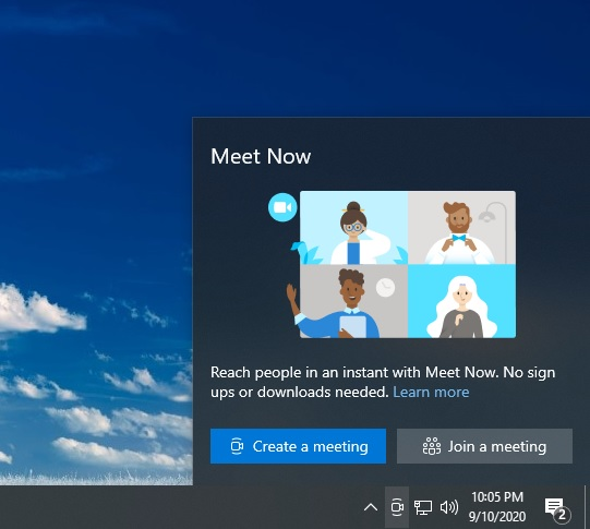 Windows Meet Now