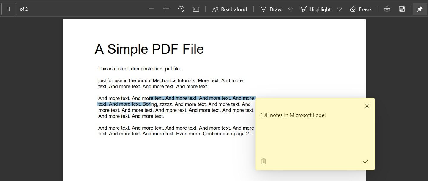 Edge PDF notes