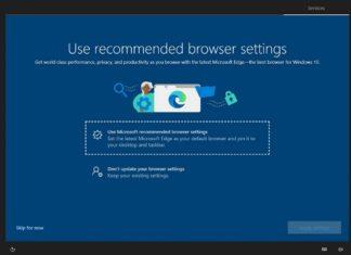 Microsoft Edge advert in Windows 10