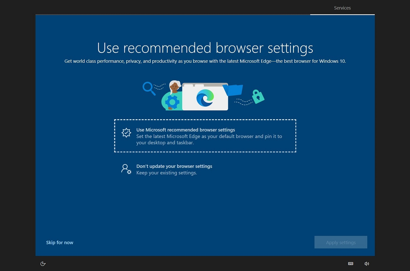 Microsoft Edge recommended browser