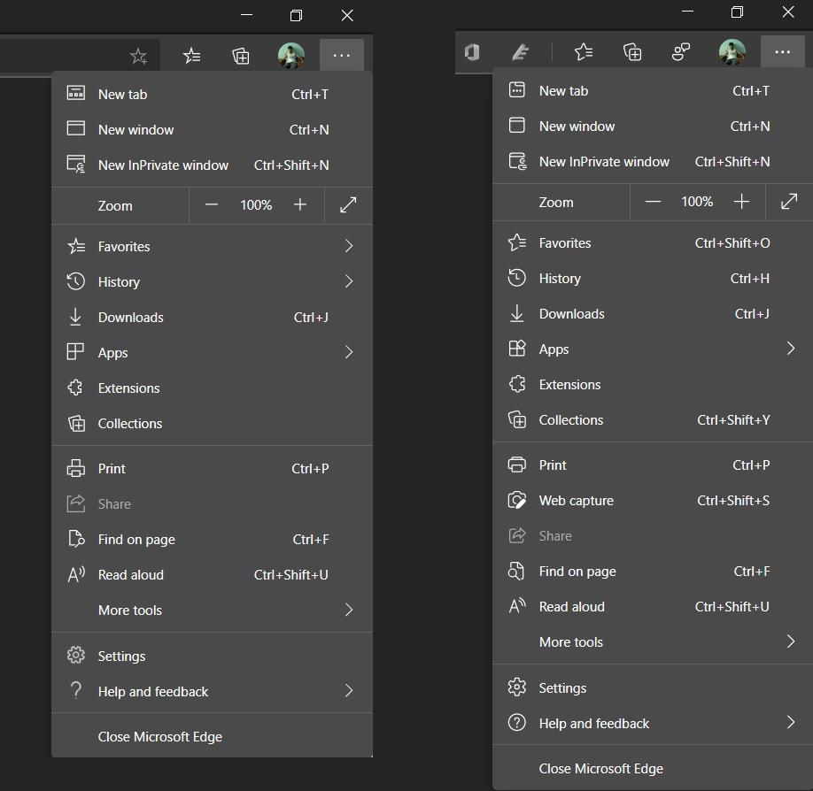 Microsoft Edge rounded icons
