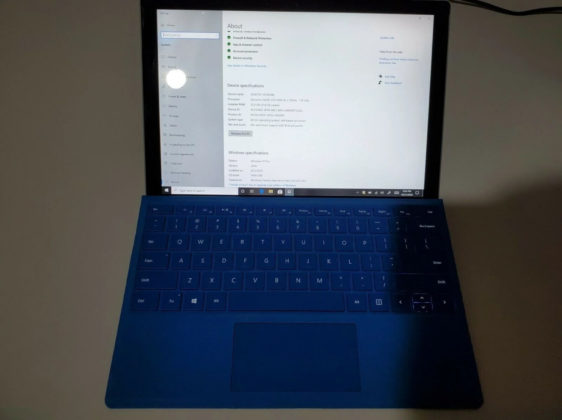 Surface Pro keyboard layout