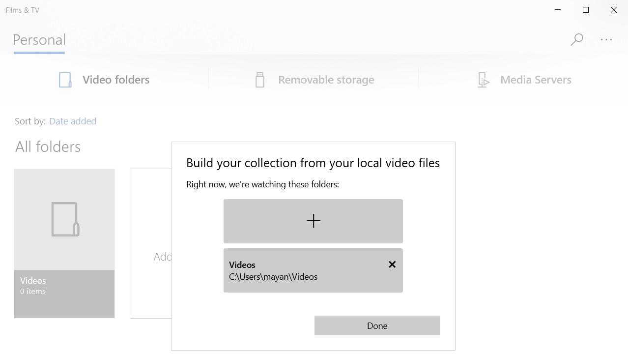 Windows 10 Films app