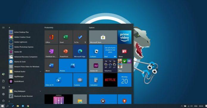 Windows 10 Start Menu tiles