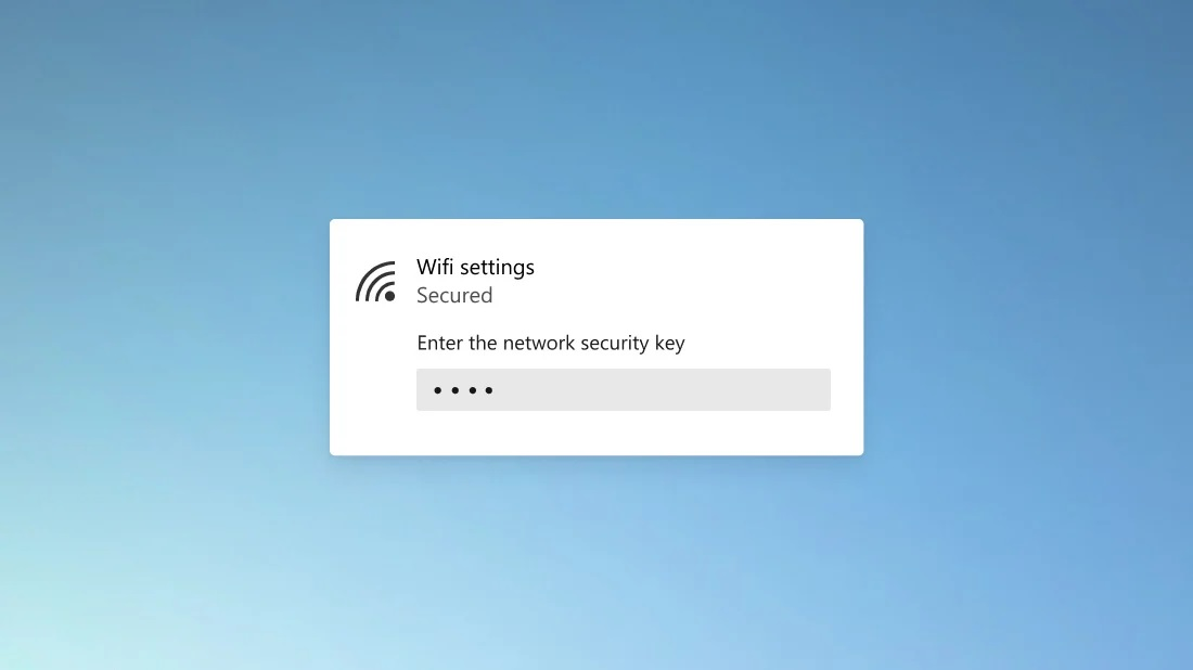 Windows 10 WiFi rounded