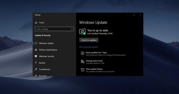 Windows 10 driver updates suspend