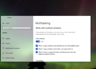 Windows 10 multitasking feature