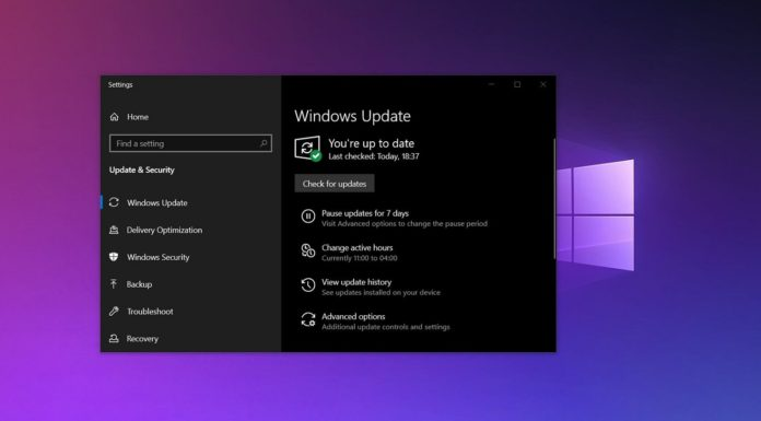 Windows 10 optional updates page