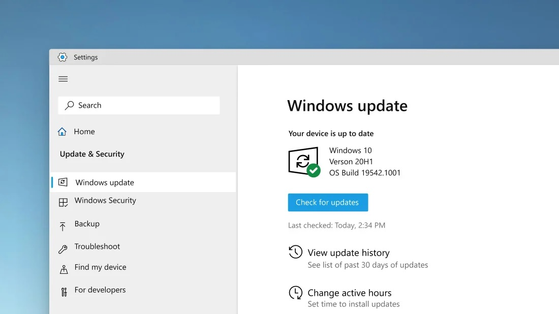 Windows Update rounded UI