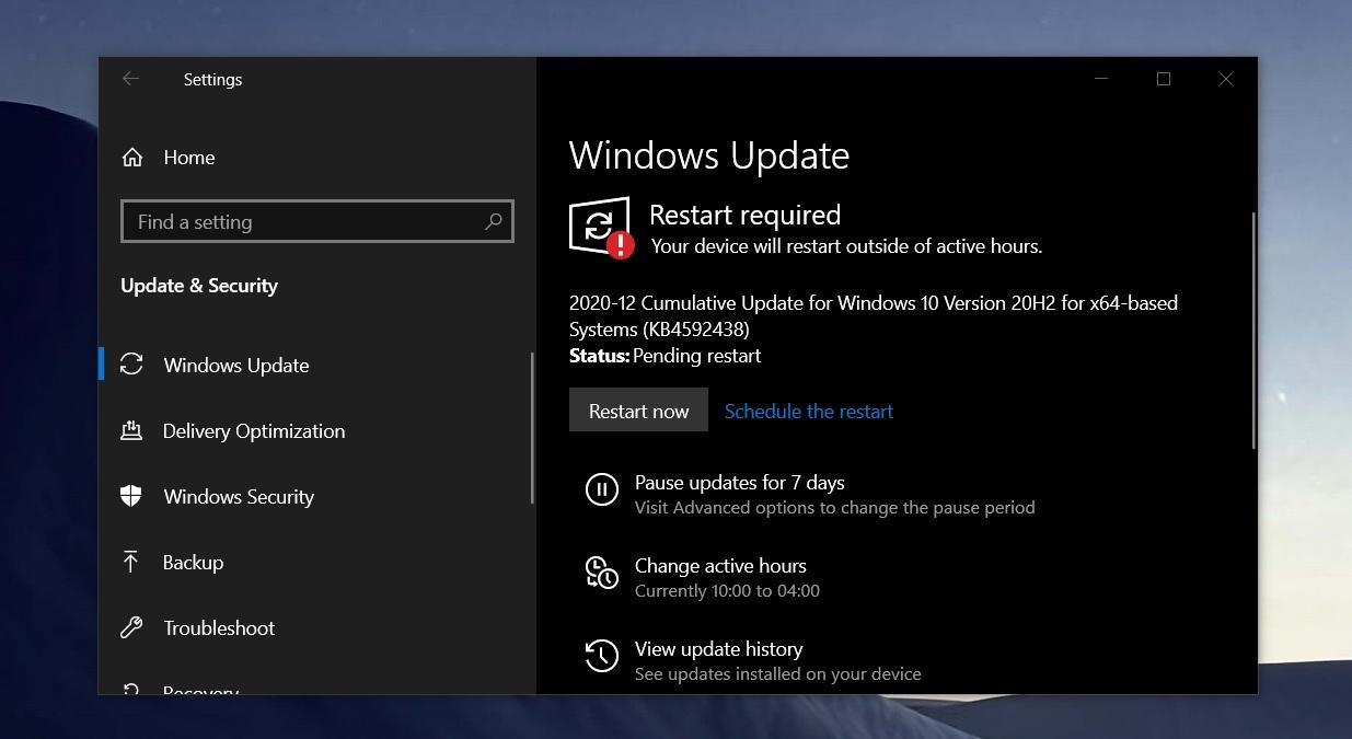 KB4592438 update