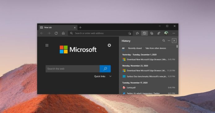 Microsoft Edge Dev update